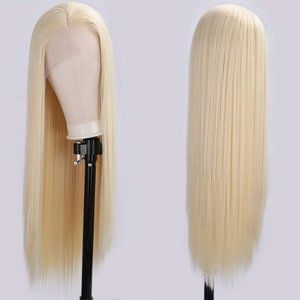 """30"""" Synthetic Blonde Lace Front Wig Long Straight"""